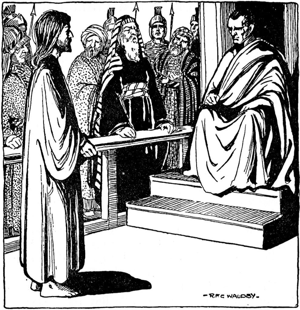 Jesus on trial before Pilate (John 18:28)
