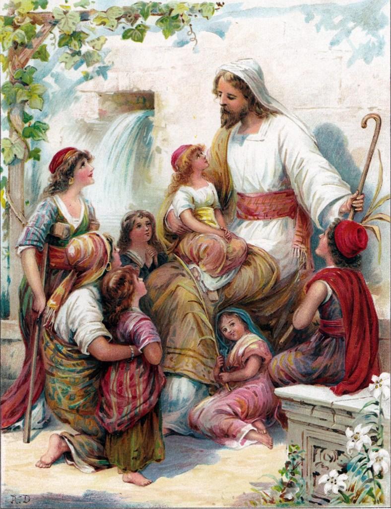 Jesus blesses the children - Matthew 19:13-15