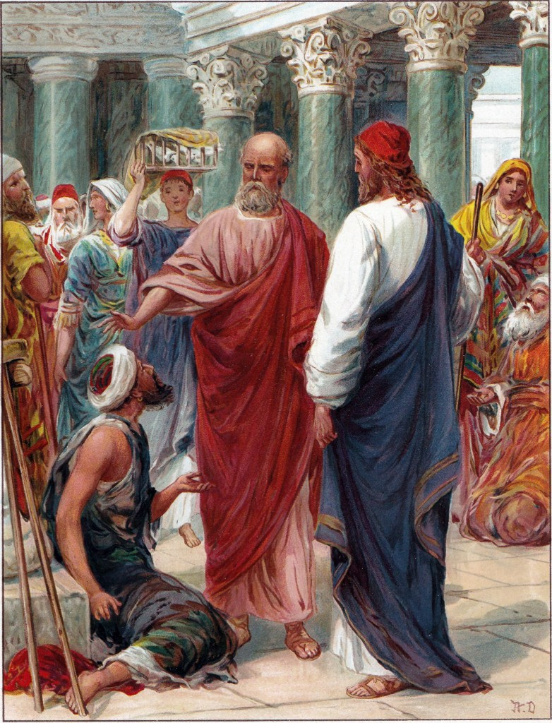 Peter and John heal a lame man - Acts 3:1-6