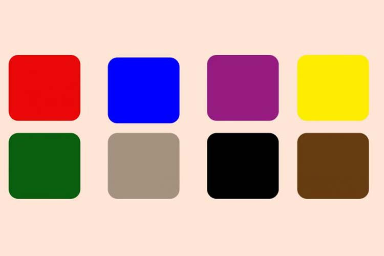 Scegli un colore per determinare il tuo stato emotivo.