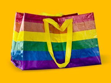 La nuova borsa _STORSTOMMA di IKEA contro le discriminazioni sessuali giallo