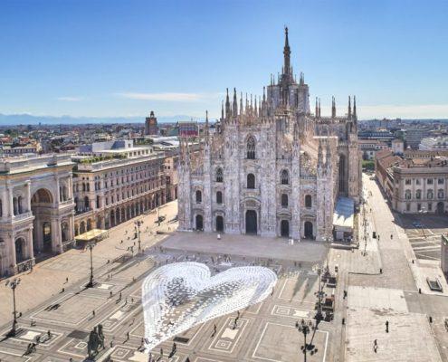 Milano Pride 2020 Cuore Bianco Piazza Duomo Milano by Angelo Cruciani