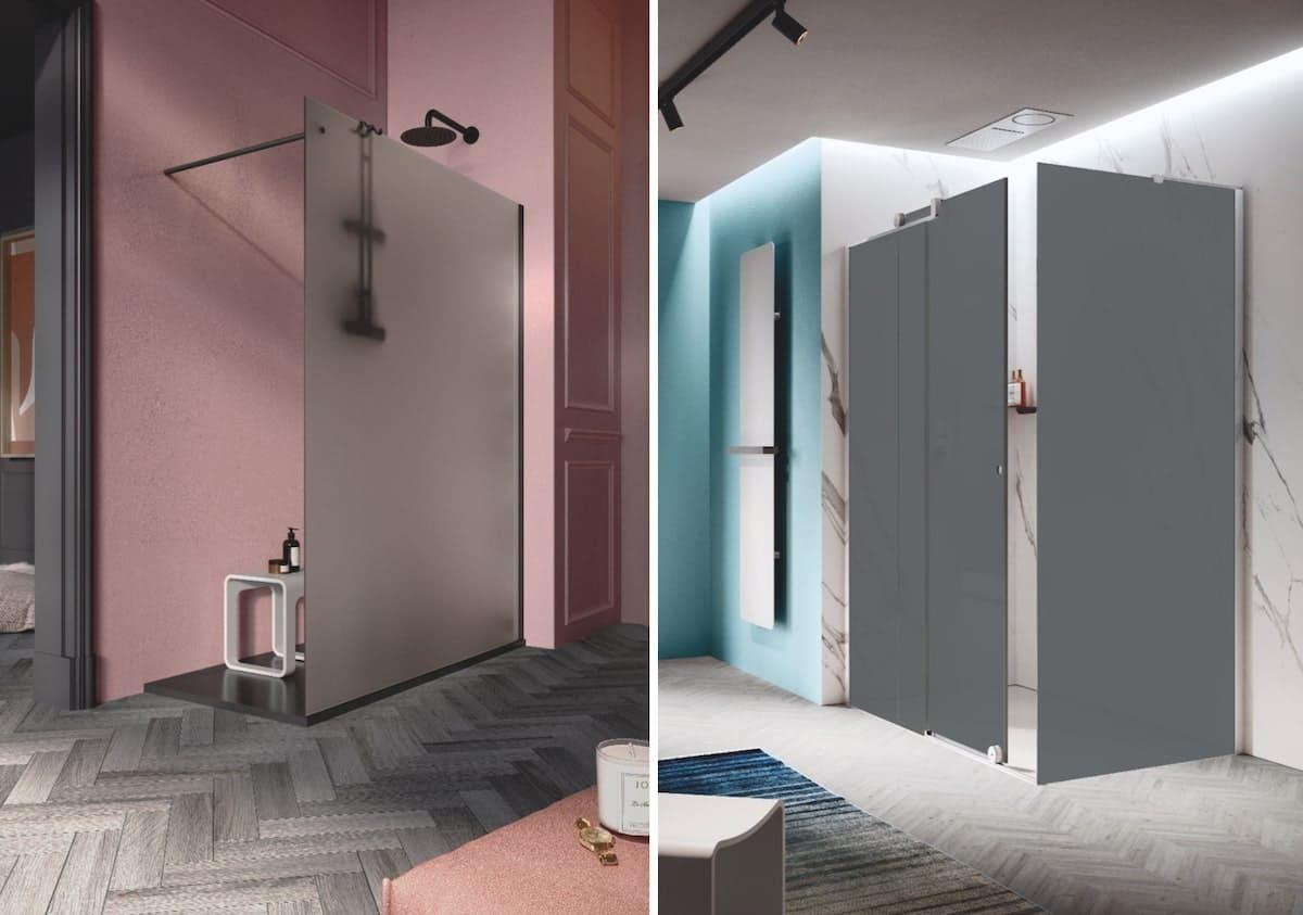 Samo la nuova doccia open in vetro fumé satinato