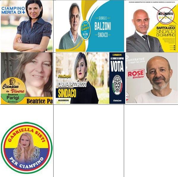 Comunali, in sette si sfidano per la poltrona di sindaco
