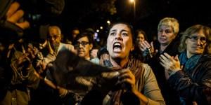 Protesta dei residenti di Tor Sapienza contro il centro di accoglienza per rifugiati