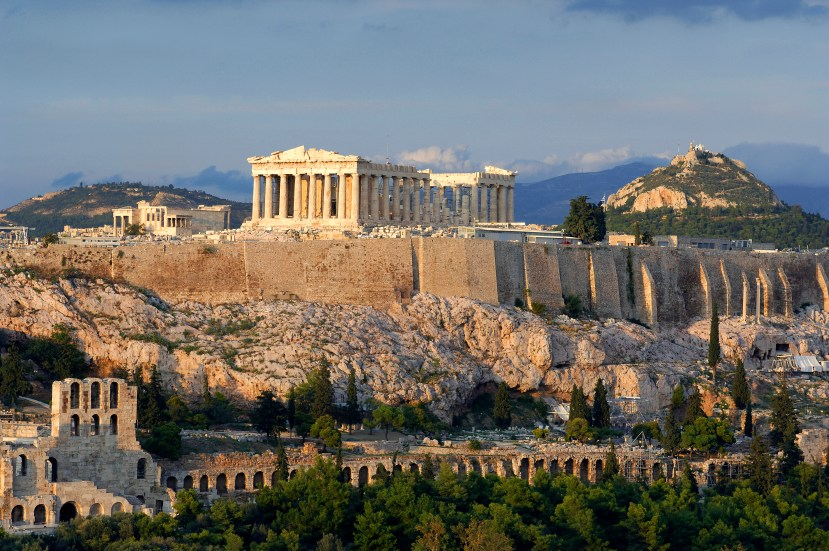 Greece, Attica, Athens, Acropolis, listed as World Heritage by UNESCO