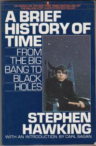 La copertina di 'A Brief History Of Time', uno dei saggi più famosi di Stephen Hawking