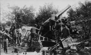 Una foto durante la II offensiva sull'Isonzo