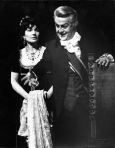 Maria Callas e Tito Gobbi in Tosca
