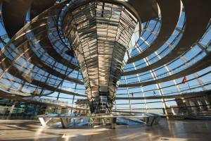 Cupola of the Reichstag Building in Berlin