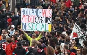 I manifestanti contro la Loi Travail a Parigi