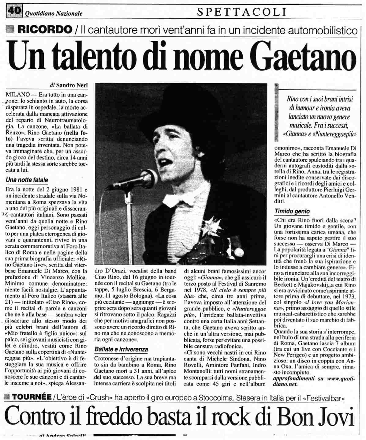 Rino Gaetano - La Discografia