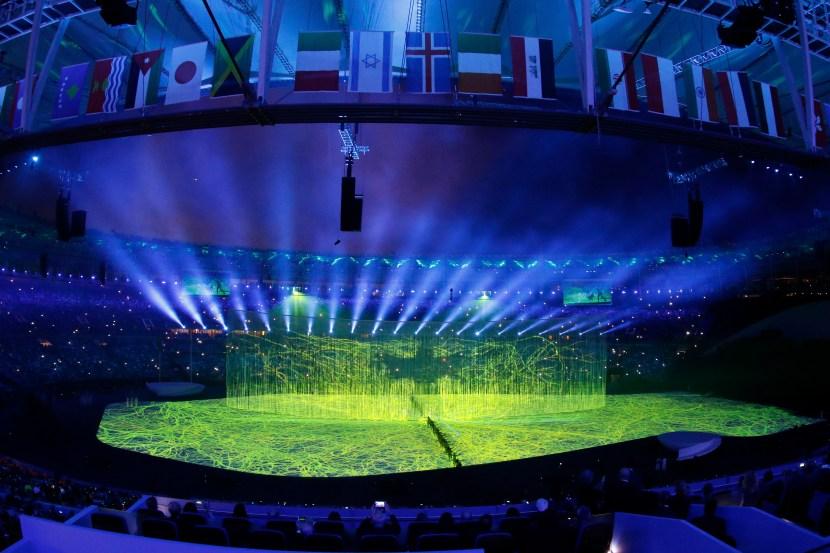 Rio de Janeiro - Cerimônia de abertura dos Jogos Olímpicos Rio 2016 no Estádio do Maracanã (Fernando Frazão/Agência Brasil)