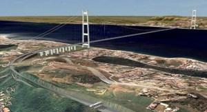 Un progetto del ponte sullo stretto di Messina