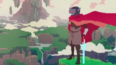 Il protagonista del gioco che guarda dall'alto il mondo caduto in rovina