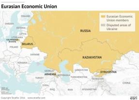 I membri che ad oggi fanno parte dell'Unione Economica Euroasiatica. Fanno parte anche del CIS e dell'OTSC.
