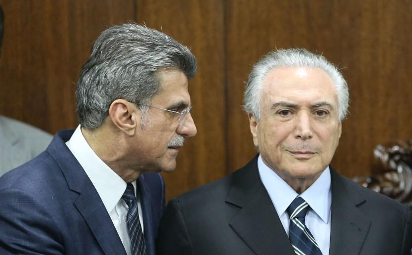 Senador Romero Jucá (PMDB) e o presidente Michel Temer