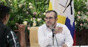 """Rodrigo Londoño Echeverri, meglio noto con il nome di battaglia di Timoleón Jiménez o con il soprannome """"Timochenko"""" (1959), è un rivoluzionario colombiano, capo politico e militare del movimento rivoluzionario armato colombiano denominato FARC"""