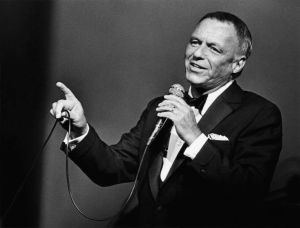UNIVERSAL CITY, CA - 1980: Singer Frank Sinatra belts out a song during a 1980 Universal City, California, performance at the Universal Amphitheatre. (Photo by George Rose/Getty Images) *** Local Caption *** Frank Sinatra