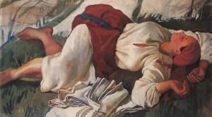 contadina che dorme, 1917