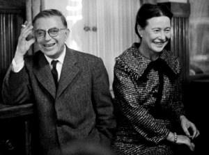 Simone-Lucie-Ernestine-Marie Bertrand de Beauvoir (1908-1986) è stata una scrittrice, saggista, filosofa, insegnante e femminista francese. Fu un'esponente dell'esistenzialismo nonché compagna del filosofo, scrittore, drammaturgo e critico letterario francese Jean-Paul Sartre (1905-1980)