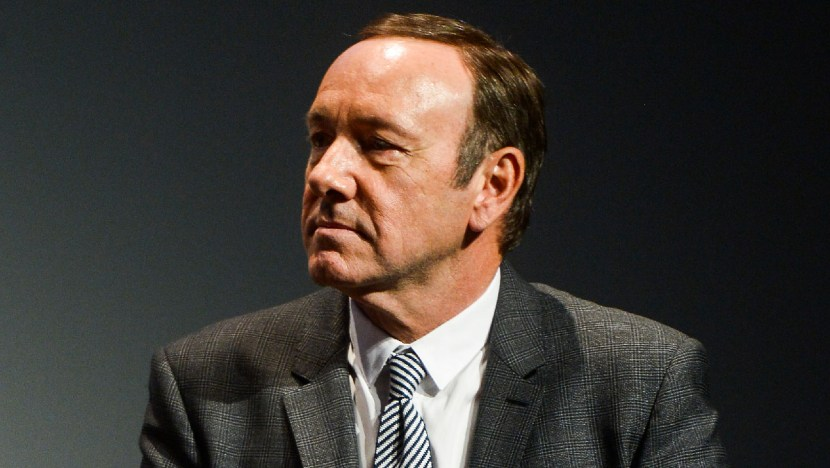 "NEW YORK, NY - APRIL 21:  Actor Kevin Spacey speaks onstage during Tribeca Talks: After The Movie: ""NOW: In the Wings On A World Stage"" during the 2014 Tribeca Film Festival at BMCC Tribeca PAC on April 21, 2014 in New York City.  (Photo by Michael Loccisano/Getty Images for the 2014 Tribeca Film Festival)"