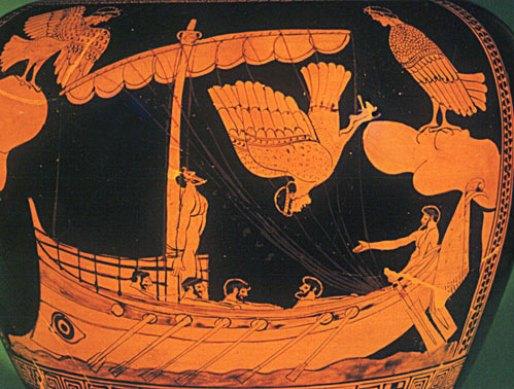 Le Sirene ammaliano Odisseo, su un cratere del V secolo a.C.