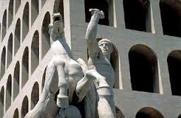 """Il """"colosseo quadrato"""" nel quartiere Europa a Roma"""