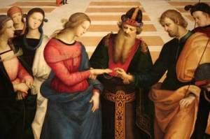 Lo Sposalizio della Vergine- particolare
