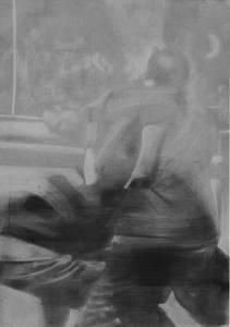 Ettore PINELLI - Altre Tipologie di Relazione (Conversazioni_2) - 2015 - fusaggini e vernici su tela -