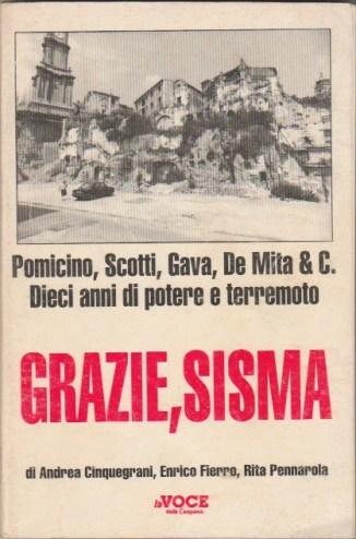 La copertina di Grazie Sisma. In apertura le macerie di Amatrice