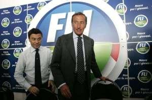 Gianfranco Fini e Italo Bocchino ai tempi della nascita di Fli