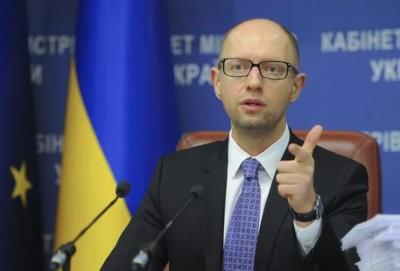 Il primo ministro ucraino Arseniy Yatsenyuk