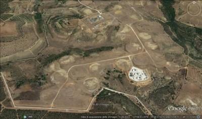 Il sito MUOS di Niscemi visto dal satellite Google