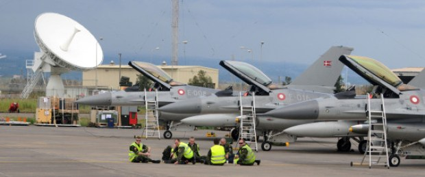 LIBIA: DA SIGONELLA PRONTI A PARTIRE SEI CACCIA DANESI