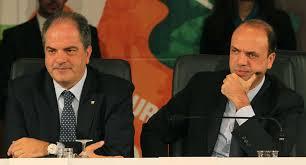 Giuseppe Castiglione e Angelino Alfano