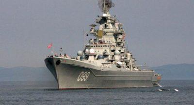 Incrociatore russo nel Mediterraneo