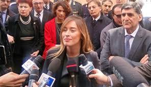 Maria Elena Boschi nella precedente visita a Taormina