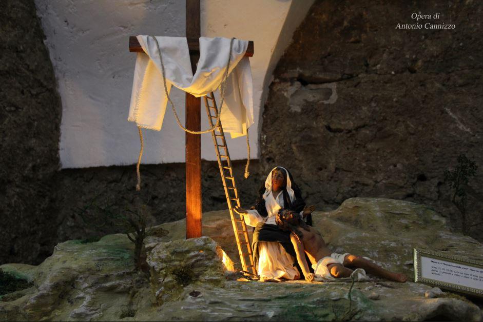 """""""La Deposizione"""" (Part.) Opera di Antonio Cannizzo - 2009 Miniatura artistica sulla Passione di Cristo - Casa Museo di Villapriolo - Villapriolo Sicilia"""
