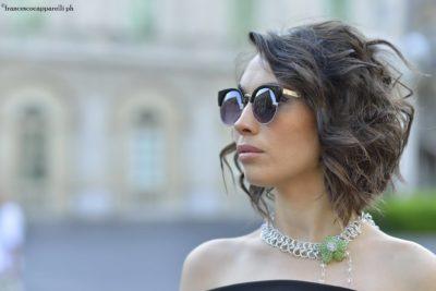 Nella foto la modella Andreea Sidenco indossa i gioielli della designer Margherita Russo