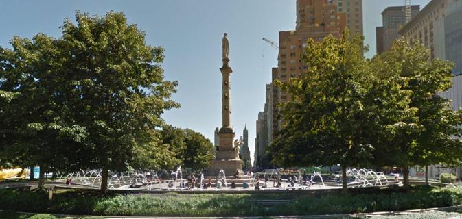 La statua di Colombo a New York