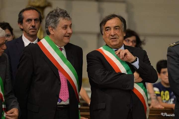 Mario Cicero con Leoluca Orlando