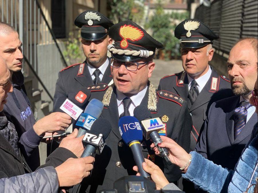 Il comandante provinciale dei carabinieri, Col. Raffaele Covetti