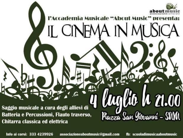 Il Cinema in musica locandina