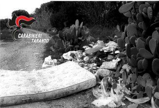 Sava e Taranto: controlli relativi all'abbandono incontrollato di rifiuti da parte dei carabinieri