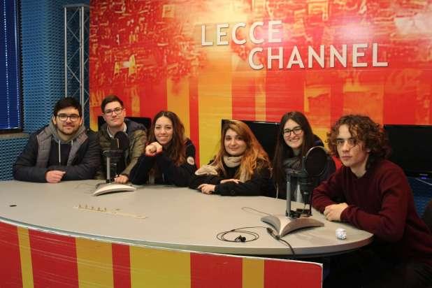 Giornalisti in alternanza - Gli studenti del Liceo De Sanctis Galilei in visita a TeleRama News