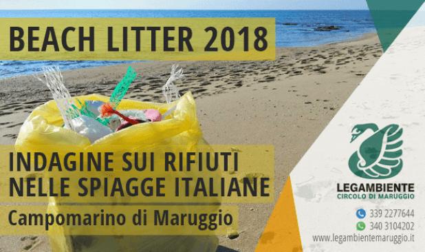 BEACH LITTER 2018: ad aprile la seconda indagine e monitoraggio sui rifiuti spiaggiati a Campomarino di Maruggio