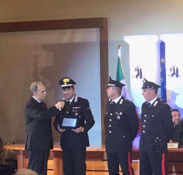 """Ai carabinieri di Sava la Targa d'argento 2018 del Centro di Cultura """" Renoir"""""""