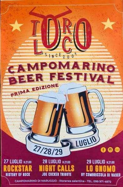 Campomarino di Maruggio al Toro Loco: la 1^ edizione del Beer Festival