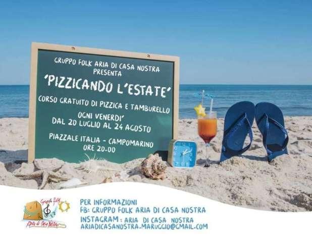 """Pizzicando l'estate"""" Corso gratuito di pizzica dal 20 luglio a 24 agosto con il gruppo folk """"Aria di Casa Nostra"""""""